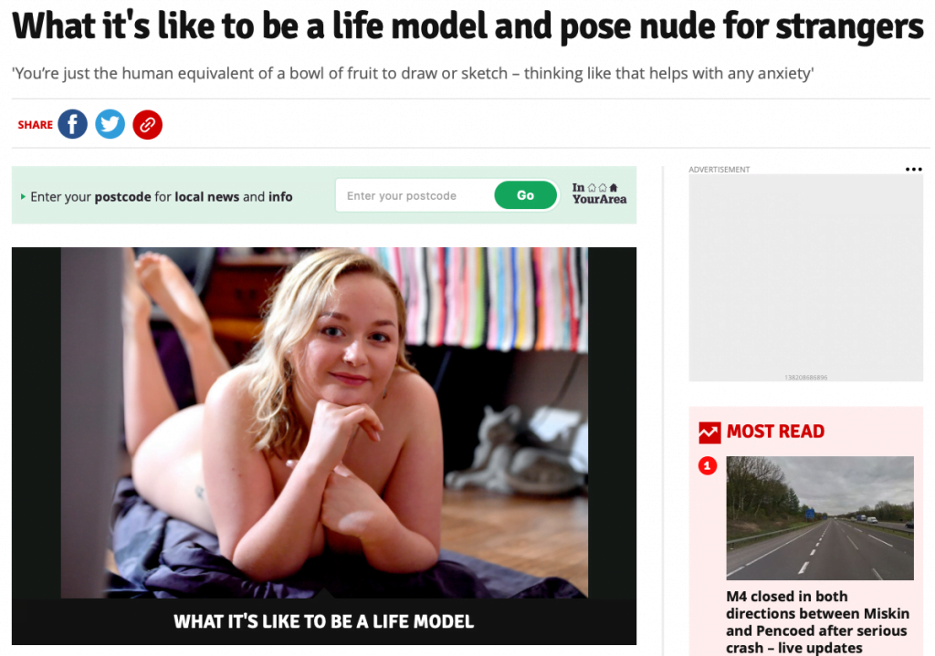 What it's like to be a life model and pose nude for strangers